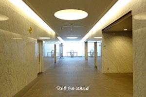 大阪市立鶴見斎場・ロビー